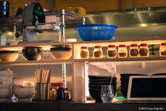 View of the ramen kitchen counter