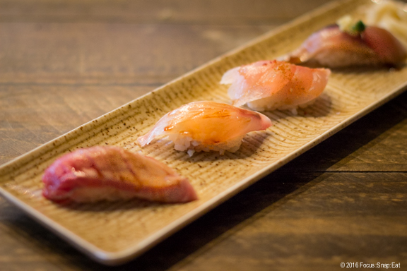 Chef's choice of nigiri sushi at Delage via Focus:Snap:Eat blog