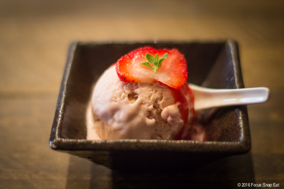 strawberry ice cream at Delage via Focus:Snap:Eat blog