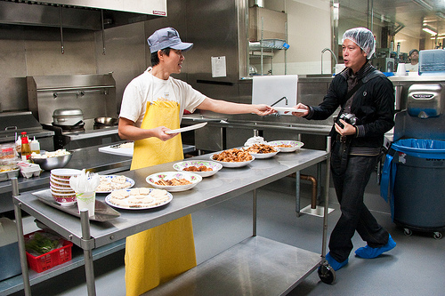 That time I had to wear a hairnet for a behind-the-scene tour of Hodo Soy tofu manufacturing plant in West Oakland.