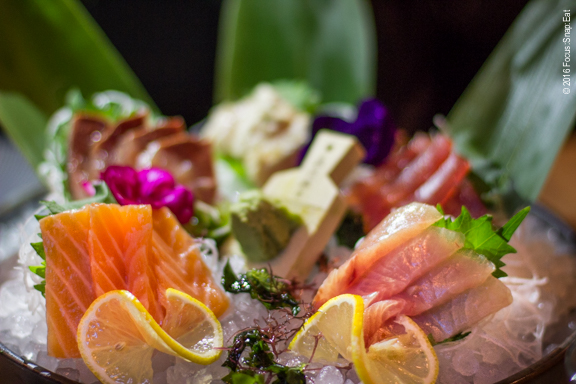 Sashimi Moriawase ($36) includes four types of raw fish that's the catch of the day.