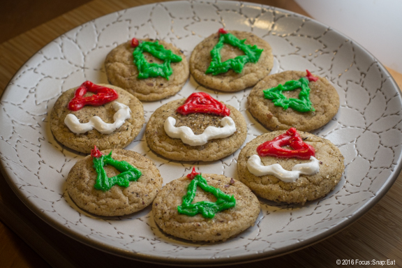 A festive plate of chai snickerdoodles