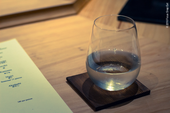 I ordered the omachi sake ($12 per glass) to go with my omakase meal.